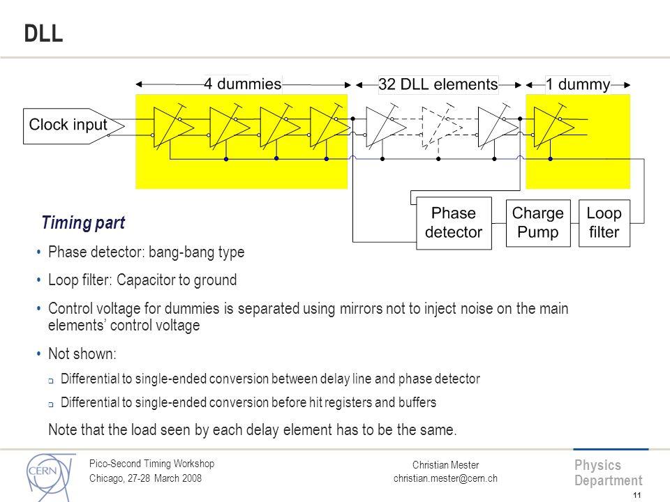 DLL Timing part Phase detector: bang-bang type