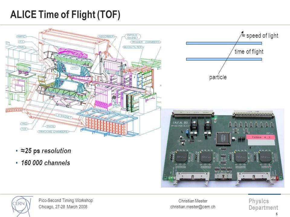 ALICE Time of Flight (TOF)