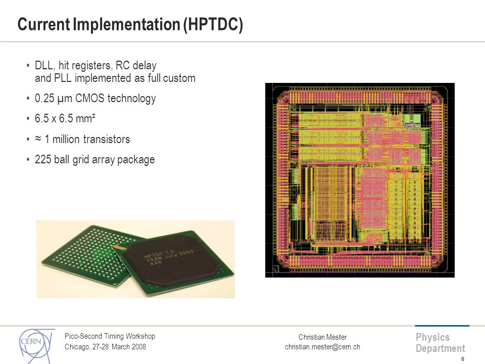 Current Implementation (HPTDC)