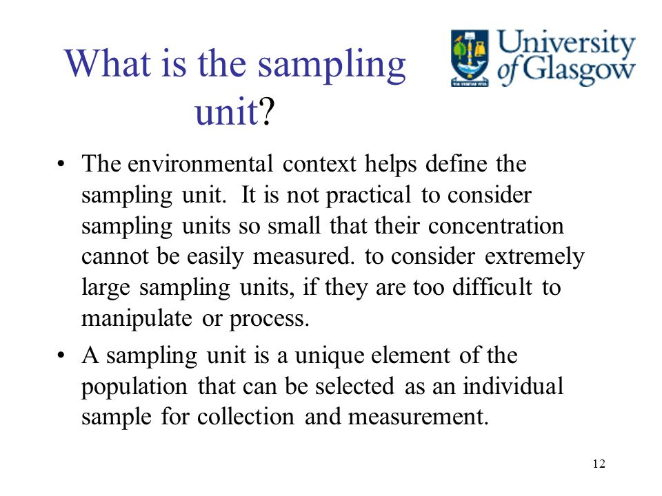 What is the sampling unit