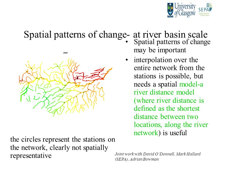 Spatial patterns of change- at river basin scale