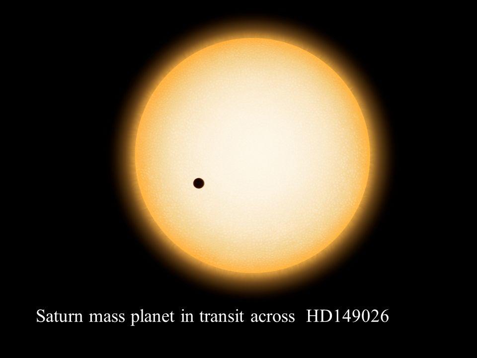 Saturn mass planet in transit across HD149026