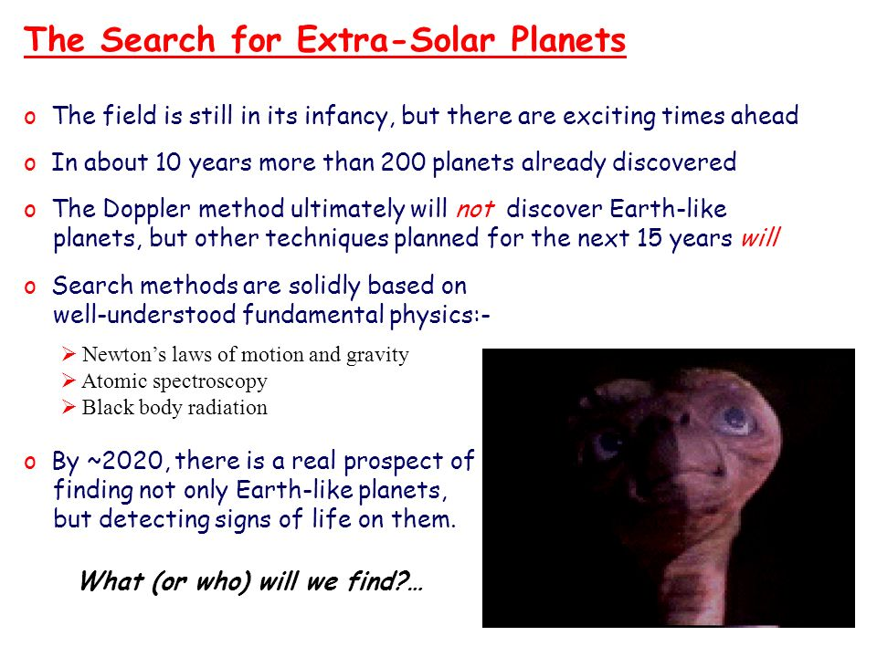 The Search for Extra-Solar Planets