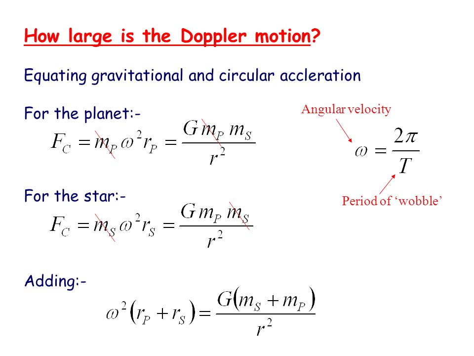 How large is the Doppler motion