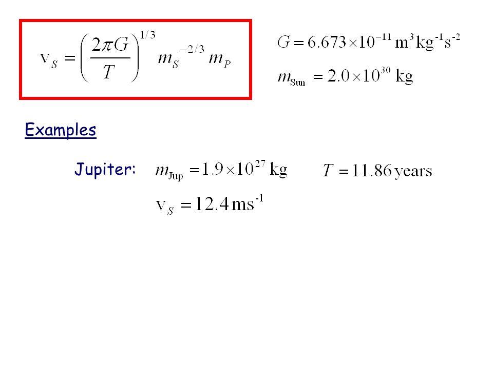 Examples Jupiter: