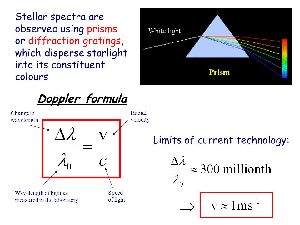 Stellar spectra are observed using prisms or diffraction gratings, which disperse starlight into its constituent colours