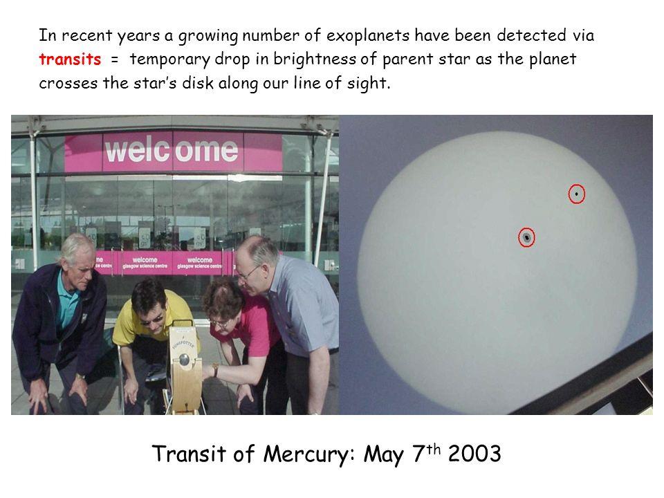 Transit of Mercury: May 7th 2003