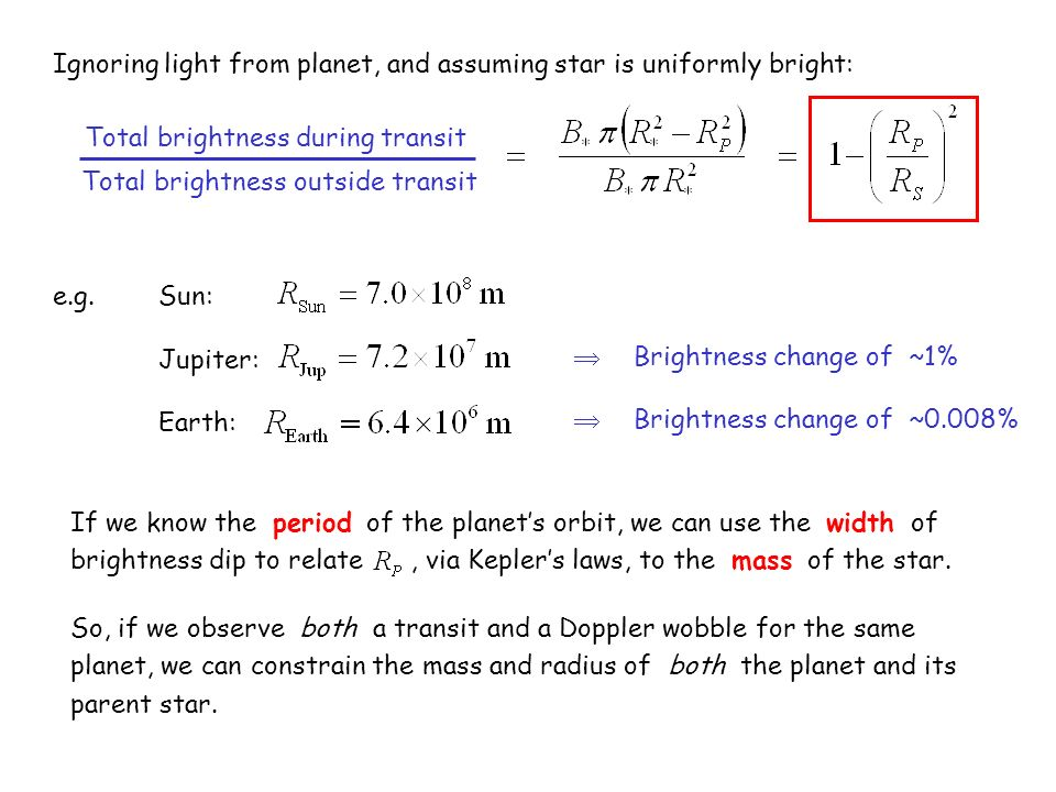 Ignoring light from planet, and assuming star is uniformly bright: