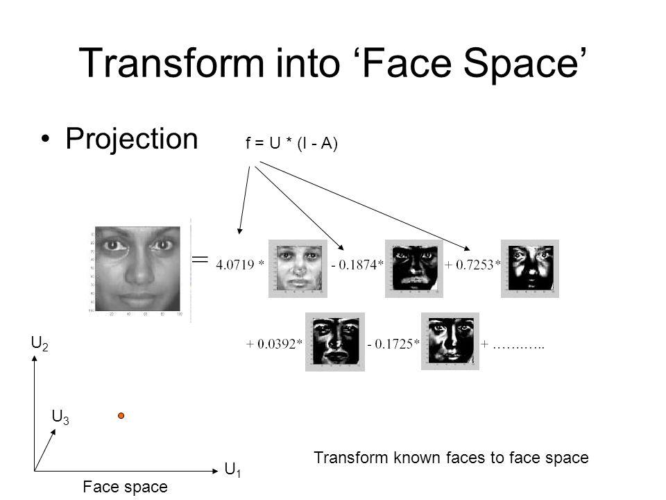 Transform into 'Face Space'