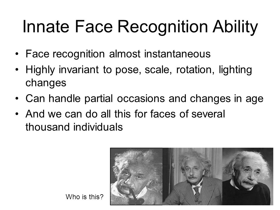 Innate Face Recognition Ability