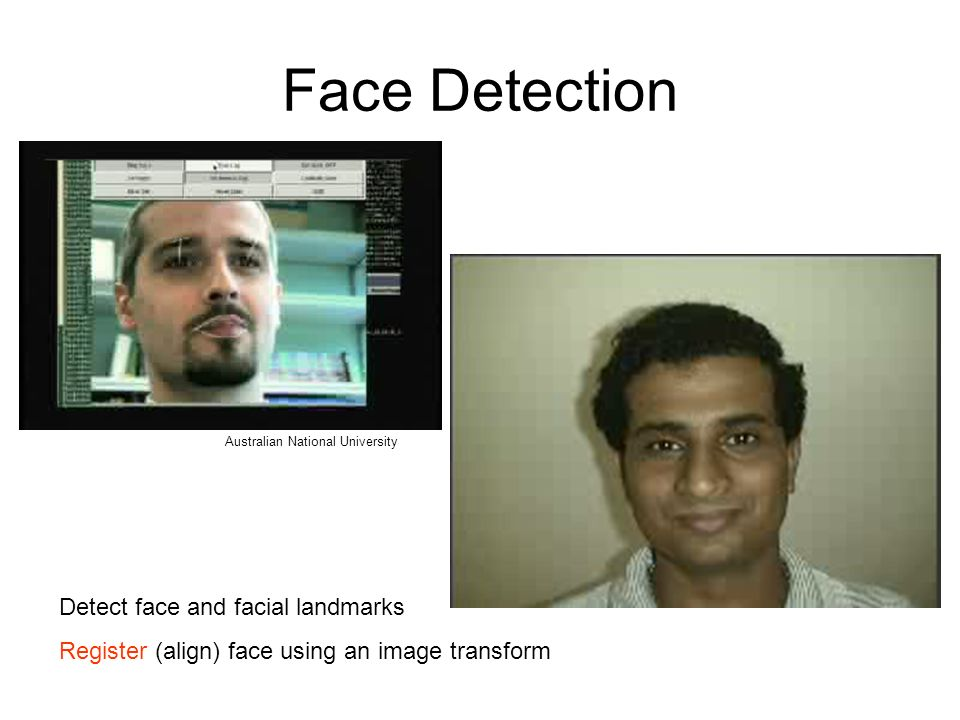 Face Detection Detect face and facial landmarks