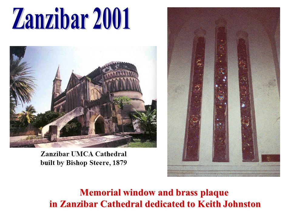 Zanzibar 2001 Memorial window and brass plaque