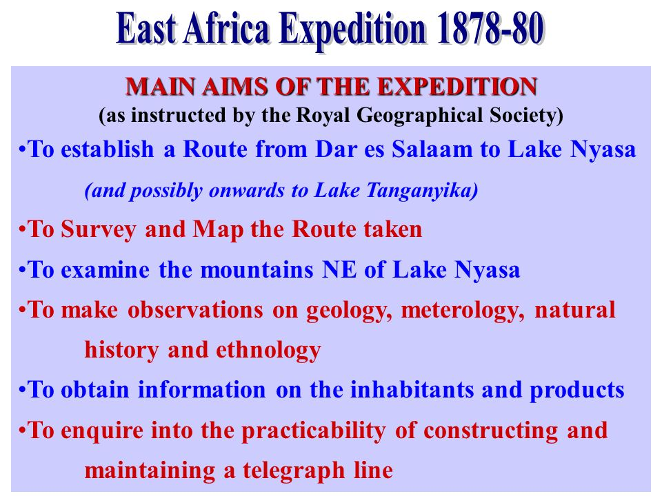 East Africa Expedition 1878-80