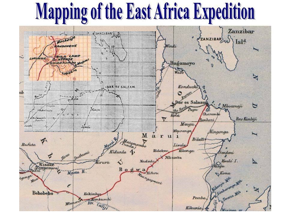 Mapping of the East Africa Expedition
