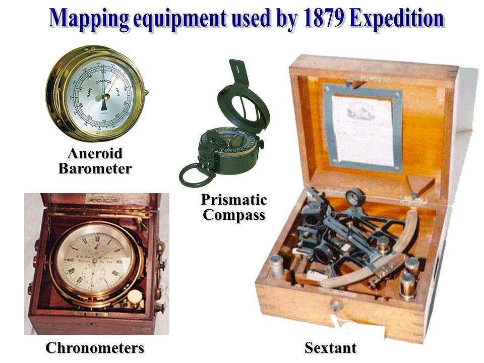 Mapping equipment used by 1879 Expedition