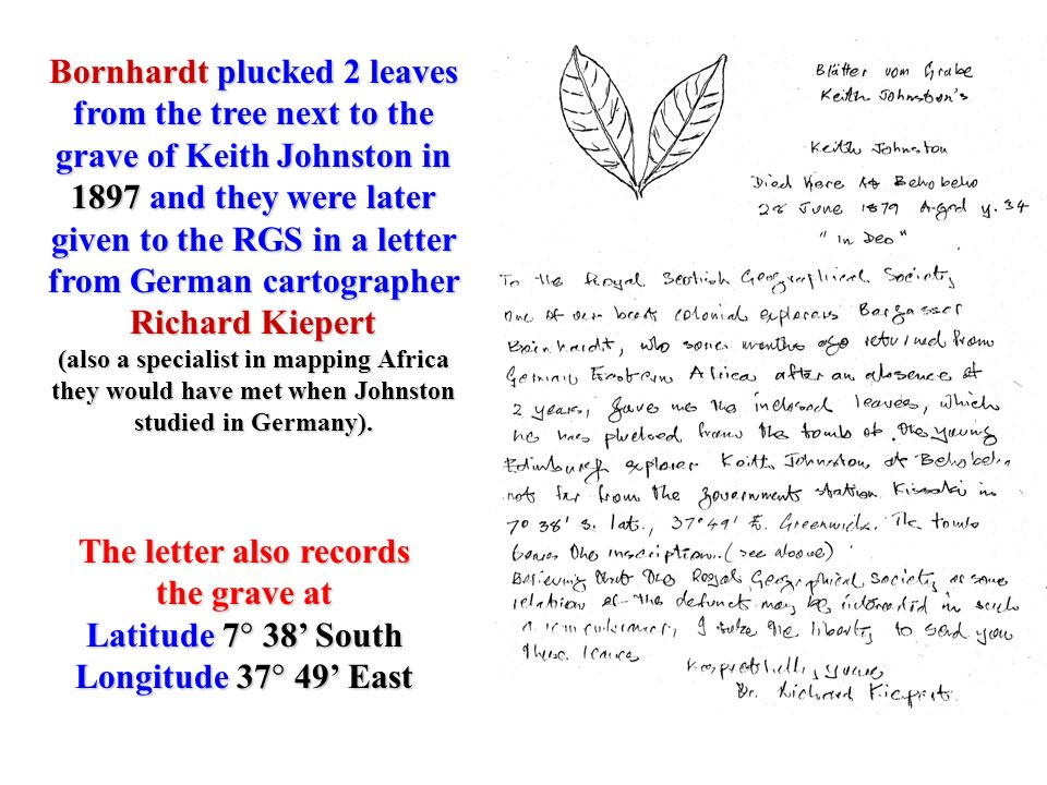 The letter also records