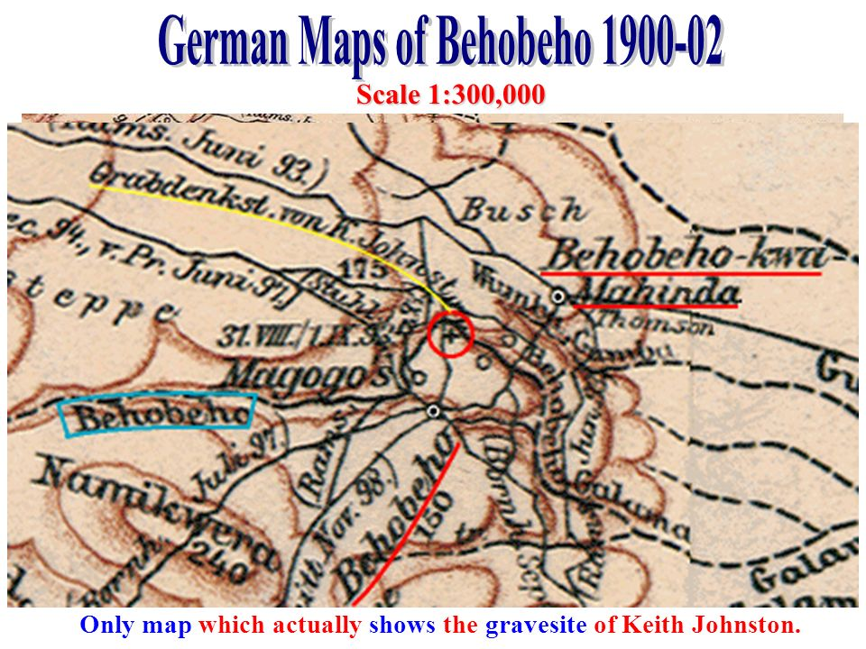 German Maps of Behobeho 1900-02
