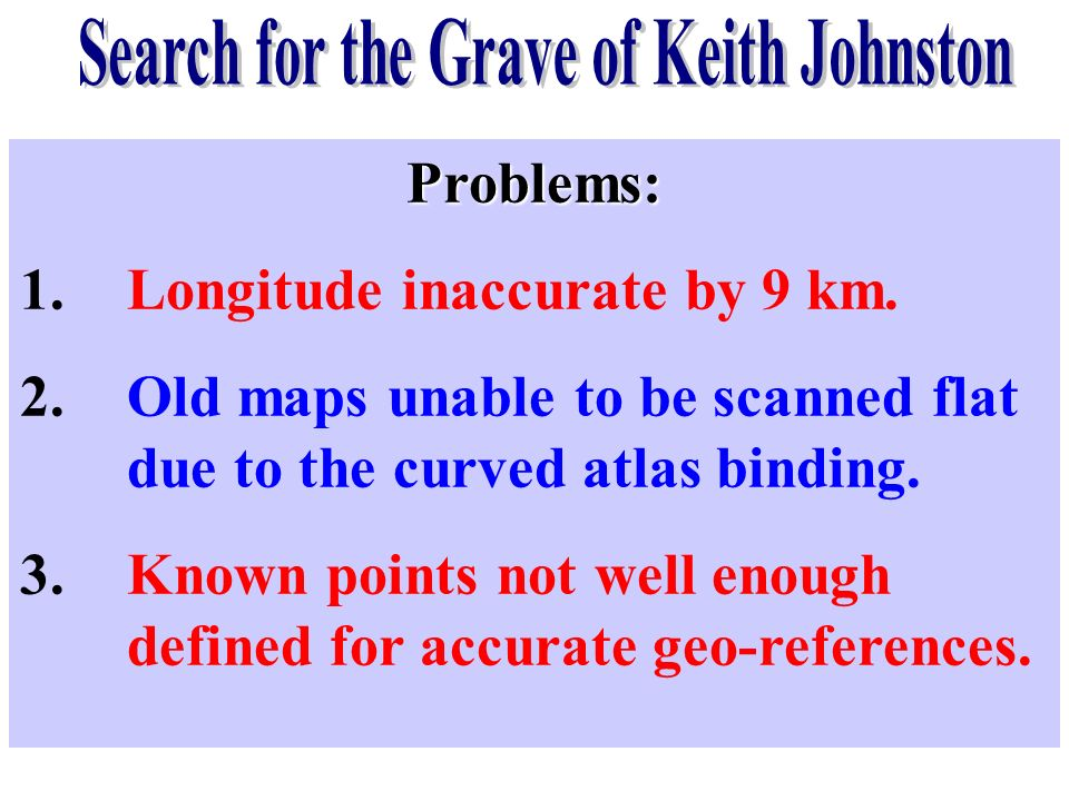 Search for the Grave of Keith Johnston