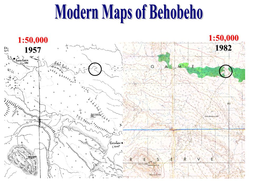 Modern Maps of Behobeho