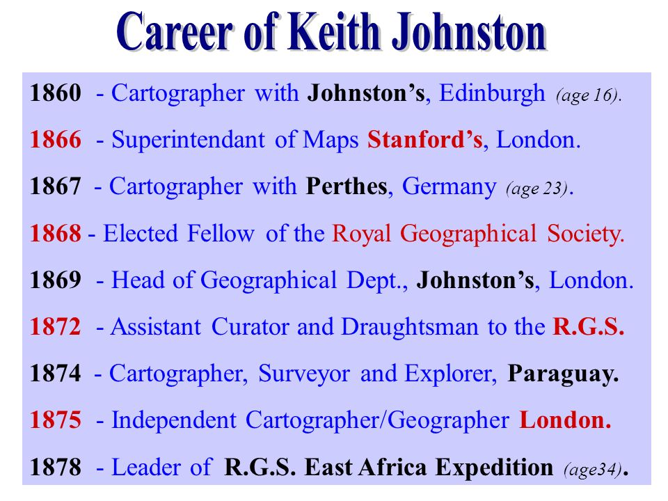 Career of Keith Johnston