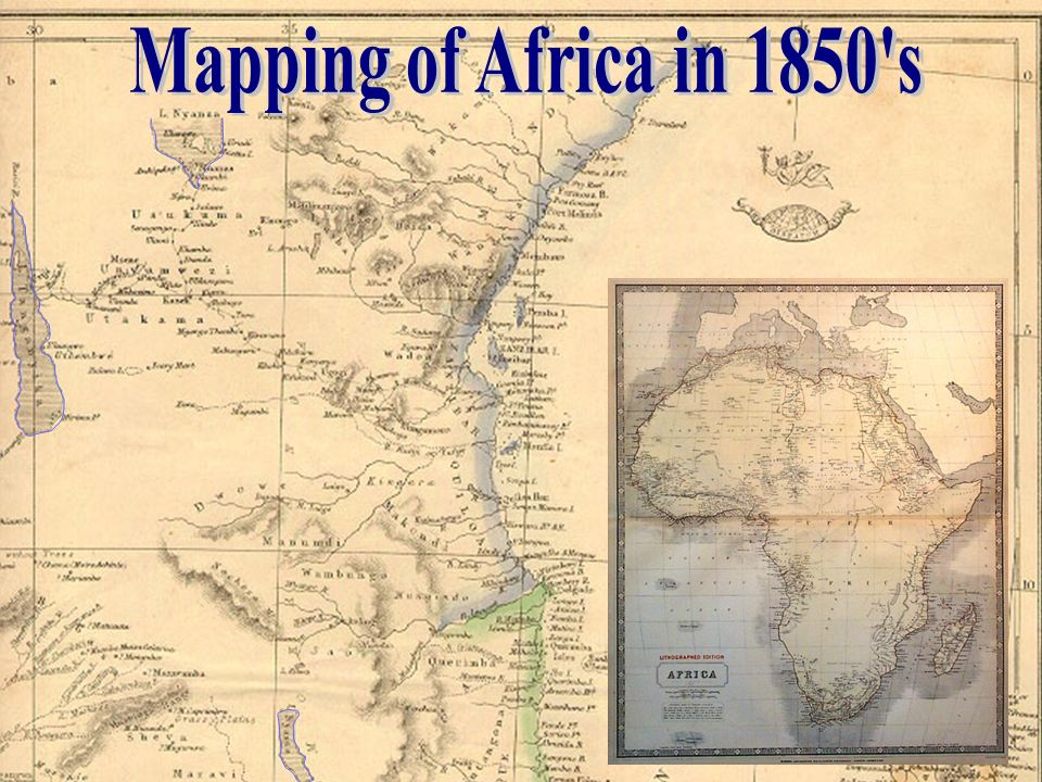 Mapping of Africa in 1850 s