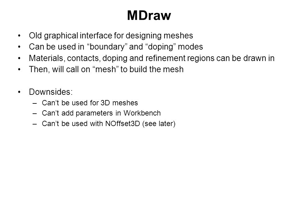 MDraw Old graphical interface for designing meshes