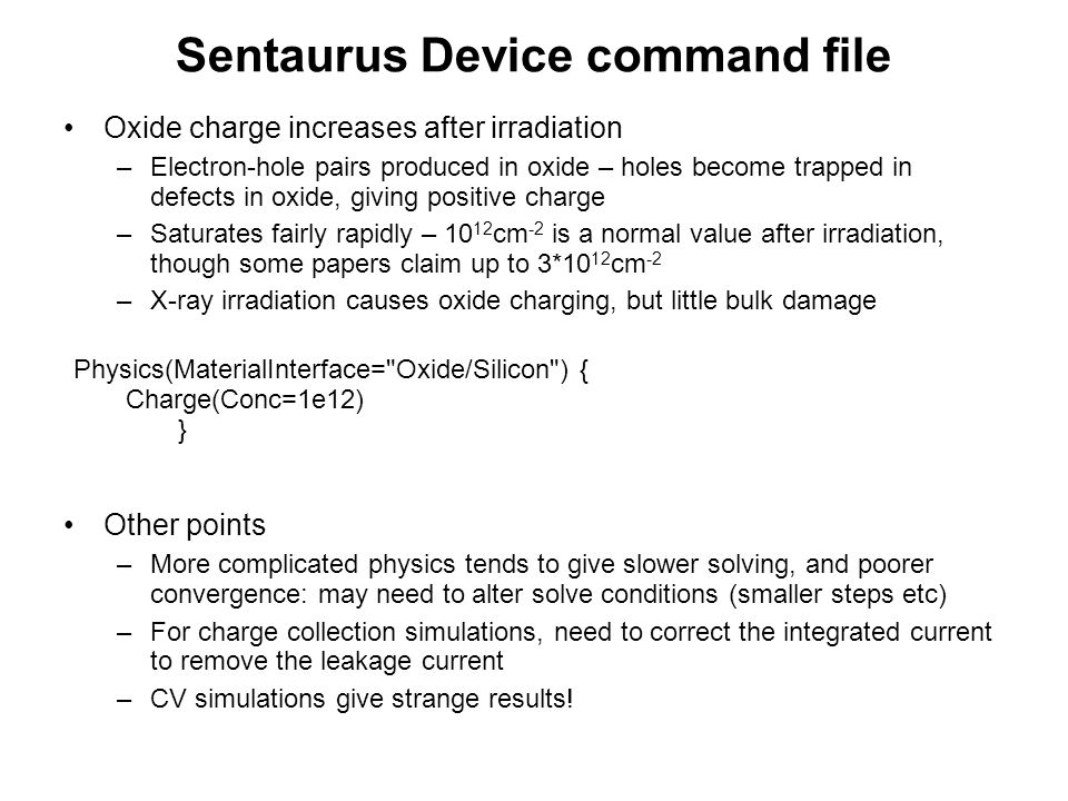 Sentaurus Device command file