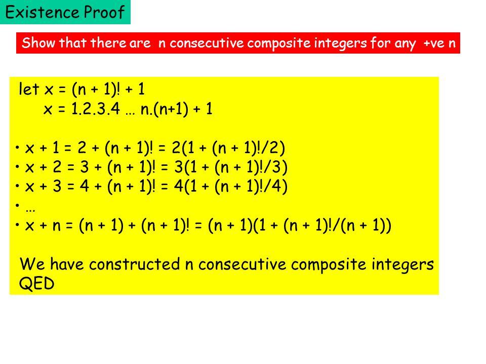 x + n = (n + 1) + (n + 1)! = (n + 1)(1 + (n + 1)!/(n + 1))