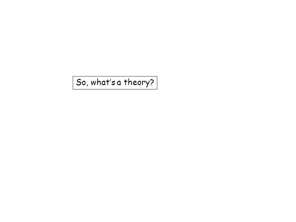 So, what's a theory