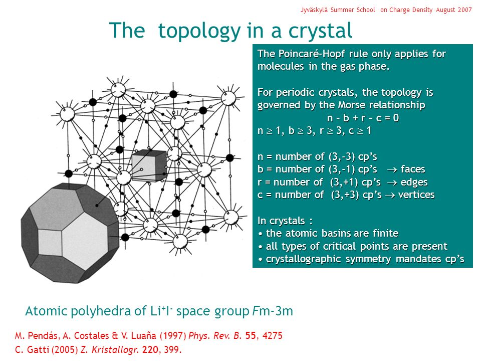 The topology in a crystal