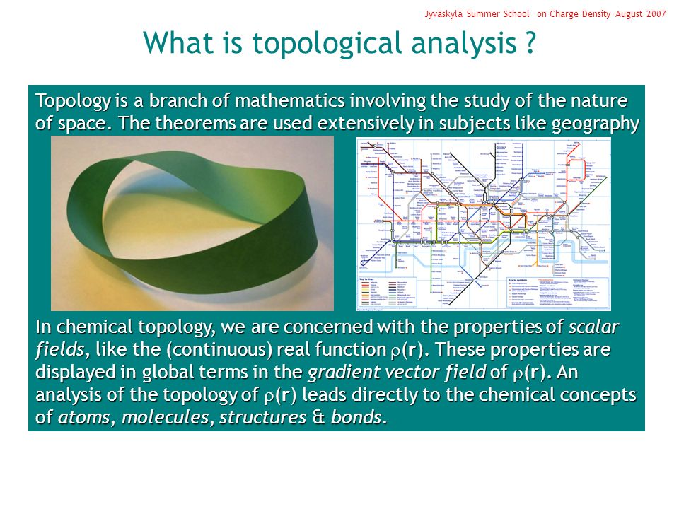 What is topological analysis