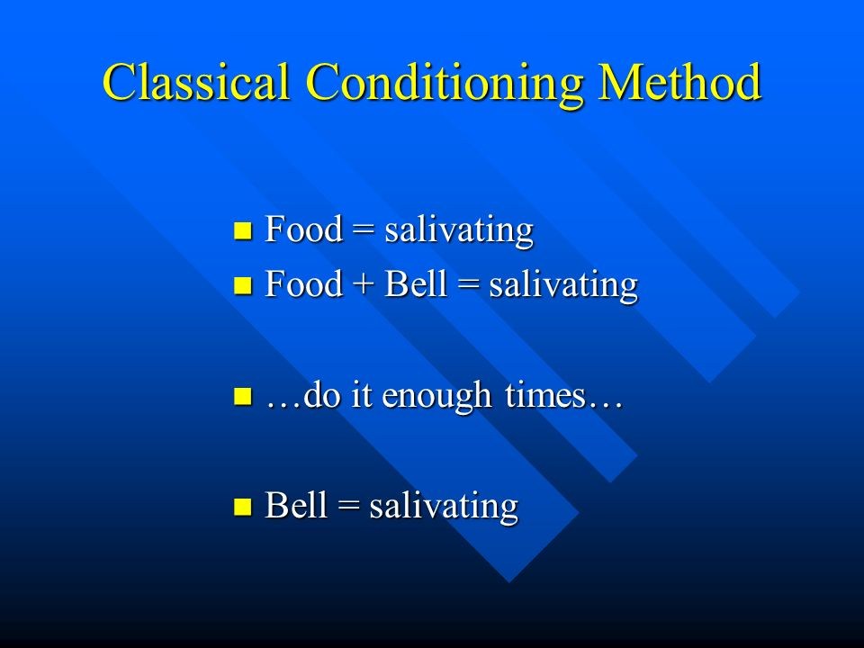 Classical Conditioning Method