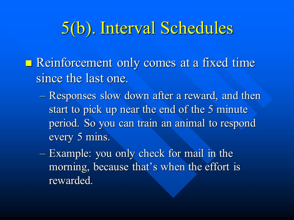 5(b). Interval Schedules