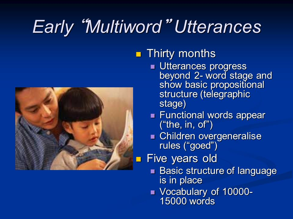 Early Multiword Utterances