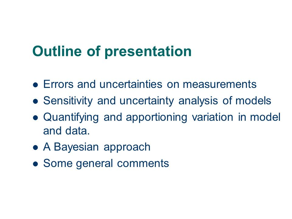 errors uncertainties and measurements Uses of uncertainty analysis (i) - random errors can be assessed by repetition of measurements - bias errors cannot these need to be estimated using external we considered two types of uncertainties, bias (or systematic errors.