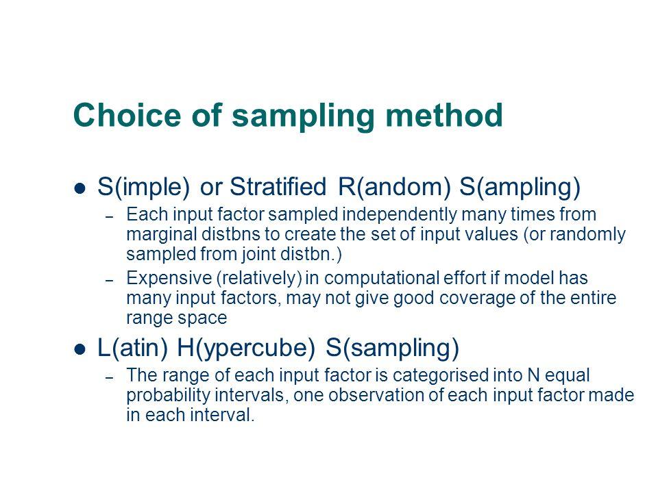 Choice of sampling method