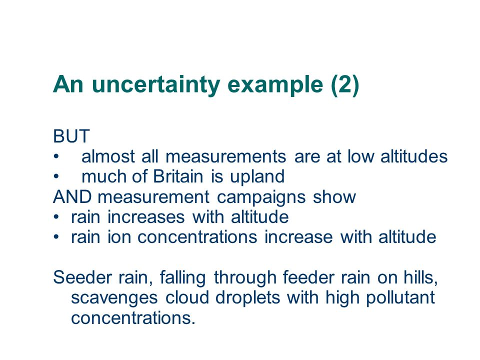 An uncertainty example (2)