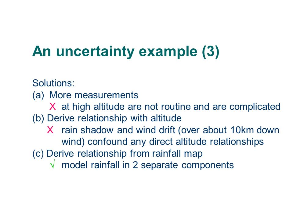 An uncertainty example (3)