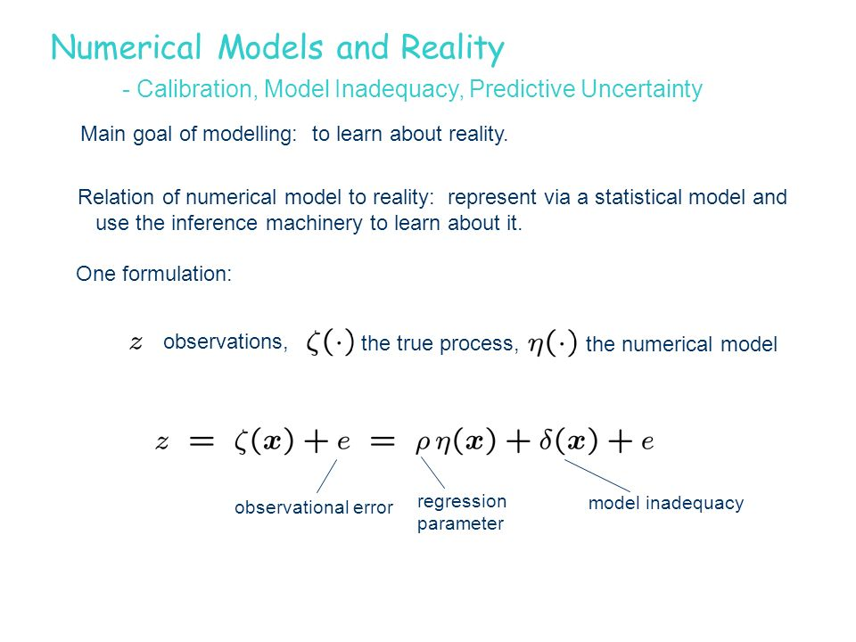 Numerical Models and Reality