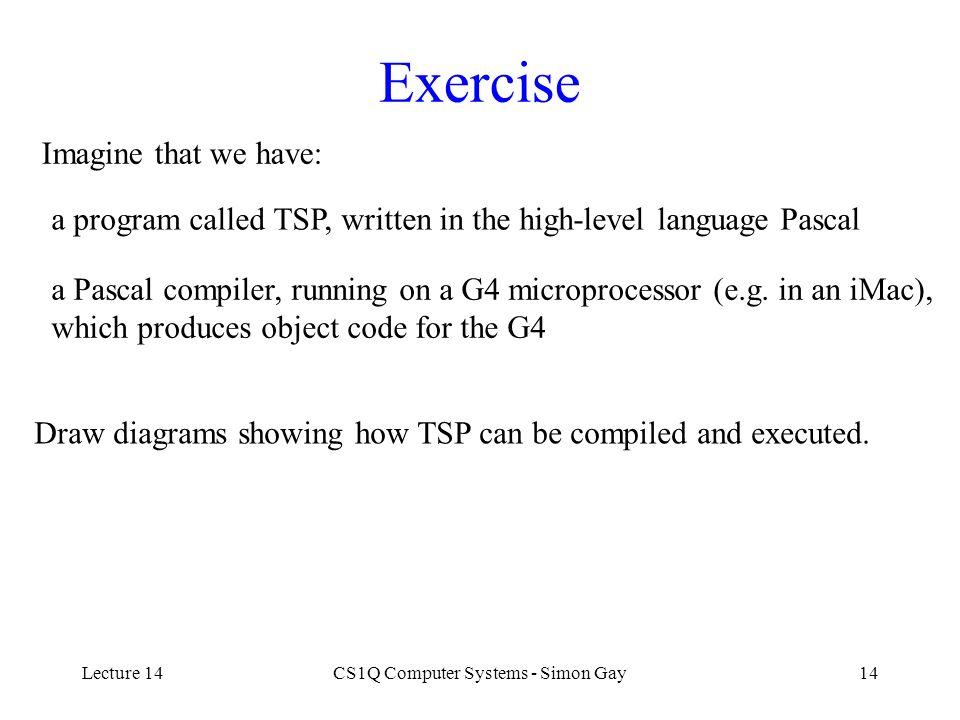 CS1Q Computer Systems - Simon Gay