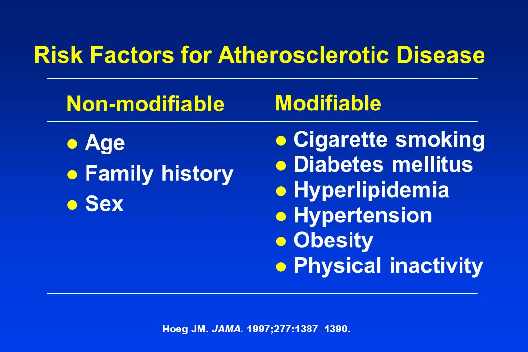Risk Factors for Atherosclerotic Disease