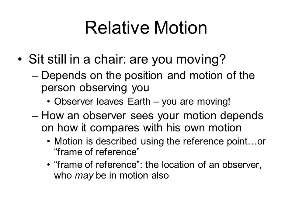 Chapter 10: Motion The BIG idea: - ppt download