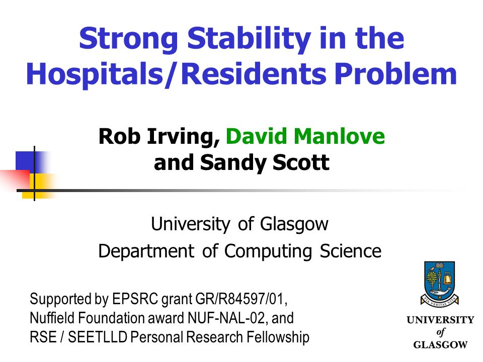 Strong Stability in the Hospitals/Residents Problem