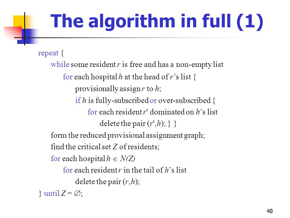 The algorithm in full (1)