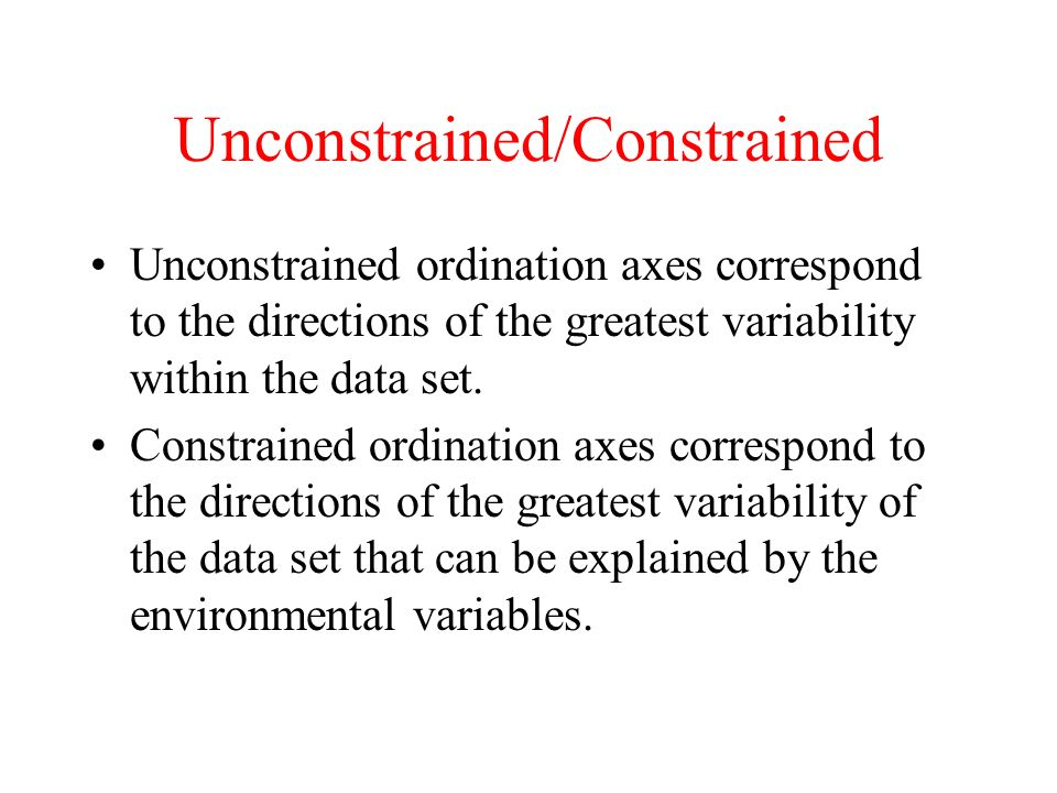 Unconstrained/Constrained