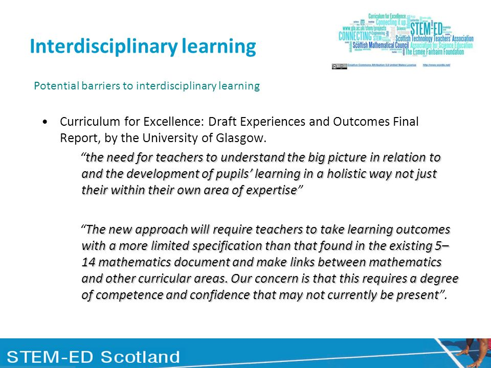 Interdisciplinary learning