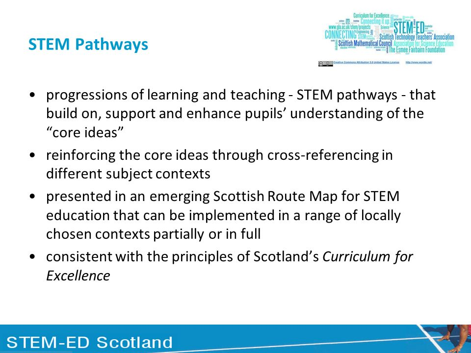 STEM Pathways progressions of learning and teaching - STEM pathways - that build on, support and enhance pupils' understanding of the core ideas