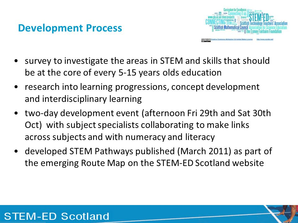 Development Process survey to investigate the areas in STEM and skills that should be at the core of every 5-15 years olds education.