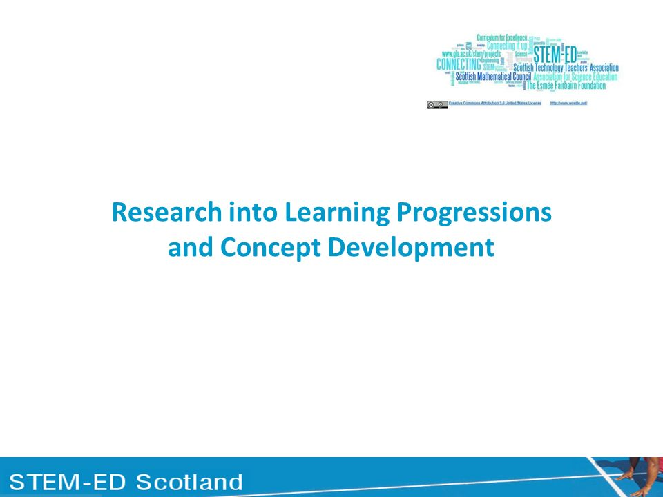 Research into Learning Progressions and Concept Development