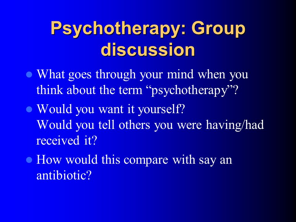 Psychotherapy: Group discussion